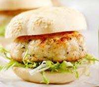 plate of Totally Turkey Cran-burger